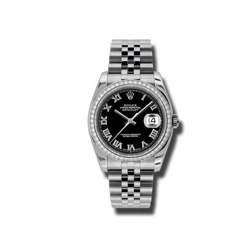Oyster Perpetual Datejust 36mm Diamond Bezel 116244 bkrj