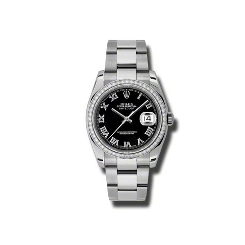 Oyster Perpetual Datejust 36mm Diamond Bezel 116244 bkro