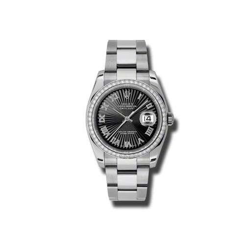 Oyster Perpetual Datejust 36mm Diamond Bezel 116244 bksbro