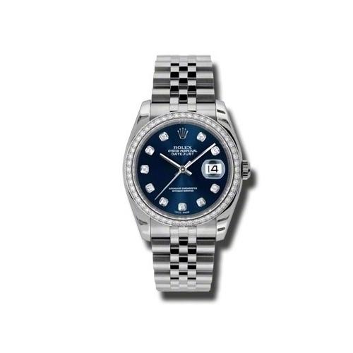 Oyster Perpetual Datejust 36mm Diamond Bezel 116244 bldj