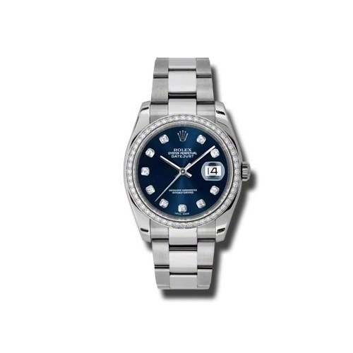 Oyster Perpetual Datejust 36mm Diamond Bezel 116244 bldo