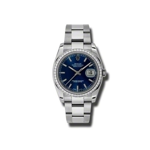 Oyster Perpetual Datejust 36mm Diamond Bezel 116244 blio