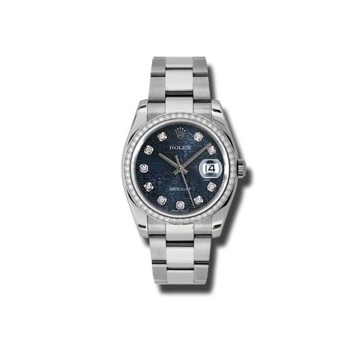 Oyster Perpetual Datejust 36mm Diamond Bezel 116244 bljdo
