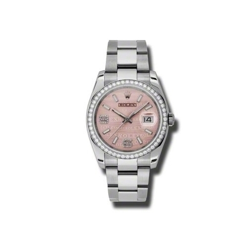 Oyster Perpetual Datejust 36mm Diamond Bezel 116244 pwdao