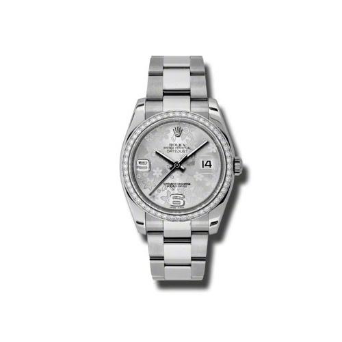 Oyster Perpetual Datejust 36mm Diamond Bezel 116244 sfao