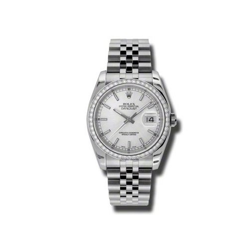 Oyster Perpetual Datejust 36mm Diamond Bezel 116244 sij