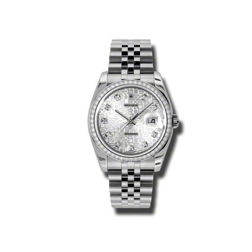 Oyster Perpetual Datejust 36mm Diamond Bezel 116244 sjdj