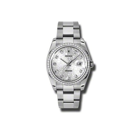 Oyster Perpetual Datejust 36mm Diamond Bezel 116244 sjdo