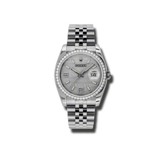 Oyster Perpetual Datejust 36mm Diamond Bezel 116244 swdaj