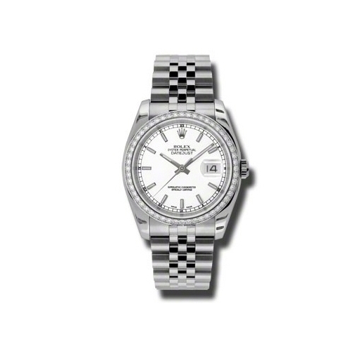 Oyster Perpetual Datejust 36mm Diamond Bezel 116244 wij