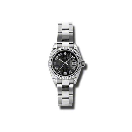Oyster Perpetual Lady-Datejust 26 Fluted Bezel 179174 bkcao