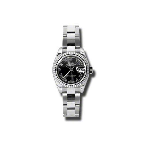 Oyster Perpetual Lady-Datejust 26 Fluted Bezel 179174 bkro