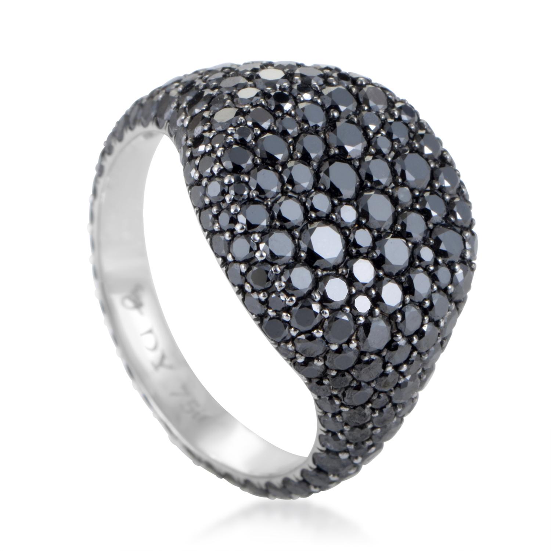 David Yurman Women's 18K White Gold Black Diamond Pave Ring