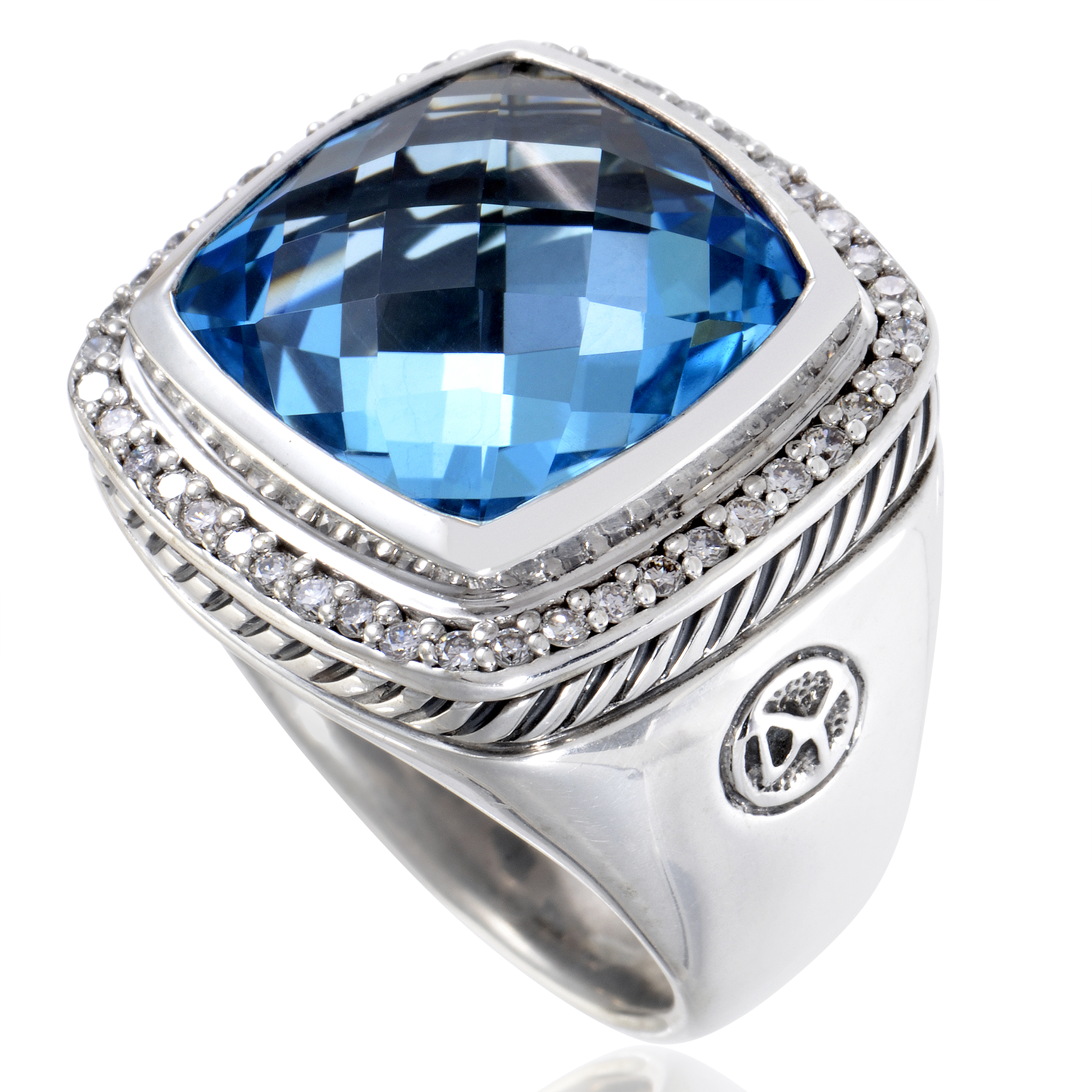 David Yurman Albion Women's Sterling Silver Diamond & Topaz Ring