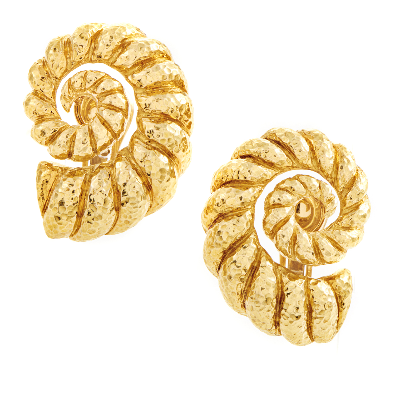 David Webb Women's 18K Yellow Gold Coiled Rope Clip-on Earrings