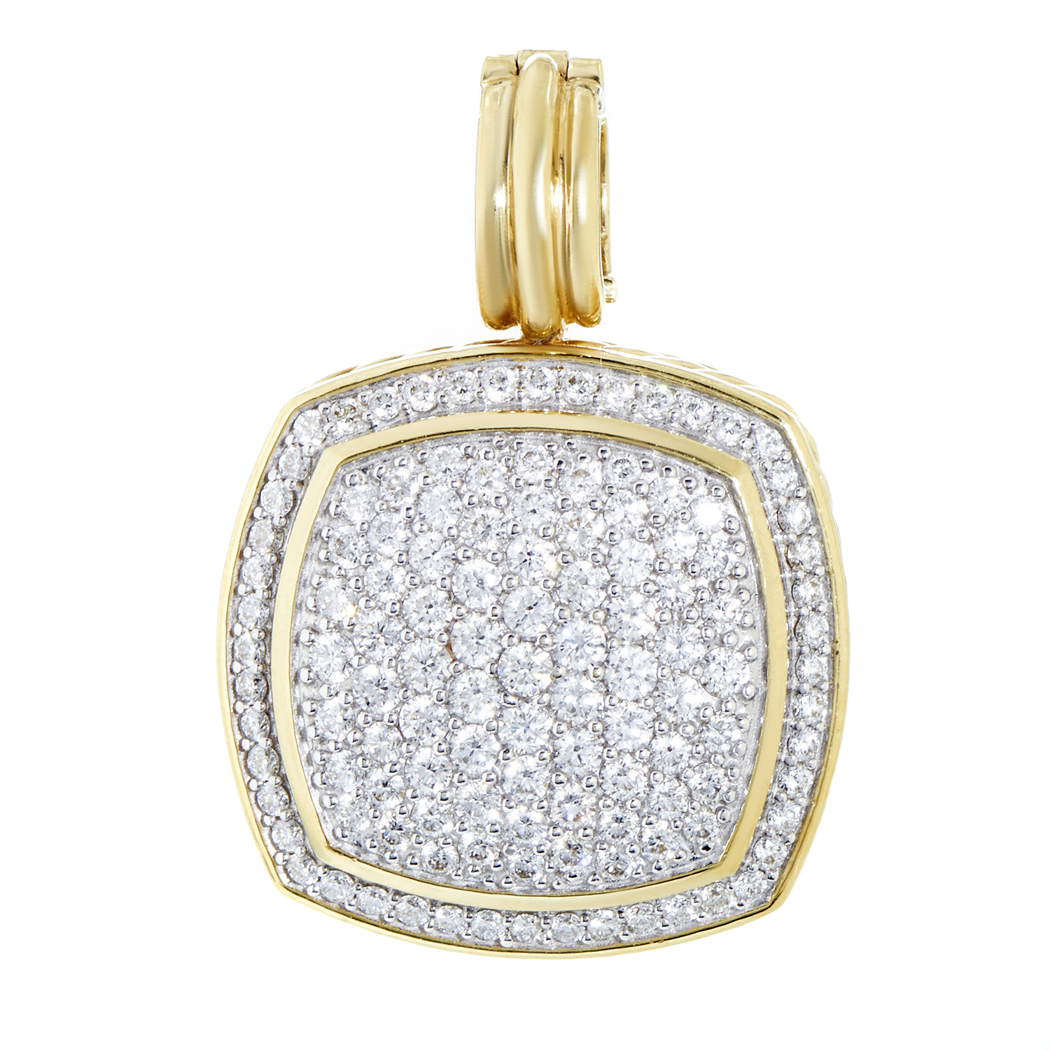 David Yurman Albion Women's 18K Yellow Gold Full Diamond Pave Pendant