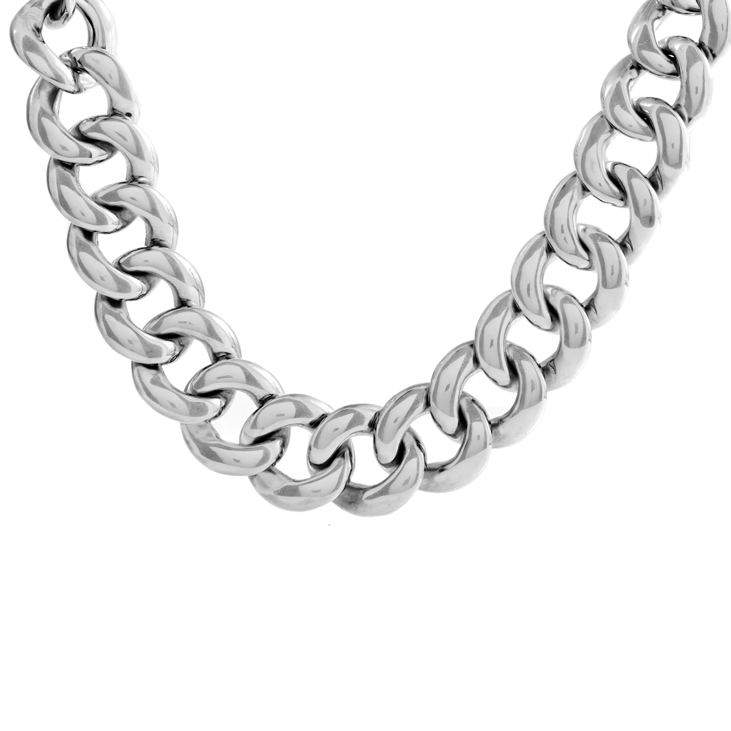 David Yurman Women's Sterling Silver & Diamond Link Collar Necklace