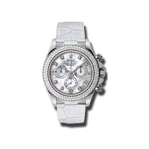Daytona White Gold- Diamond Bezel 116589 RBR mdw