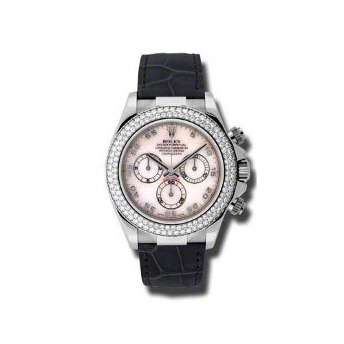 Daytona White Gold- Diamond Bezel 116589RBR mop
