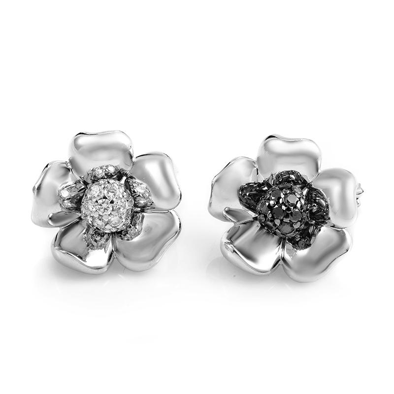 de Grisogono Fleurs 18K White Gold Multi-Diamond Earrings