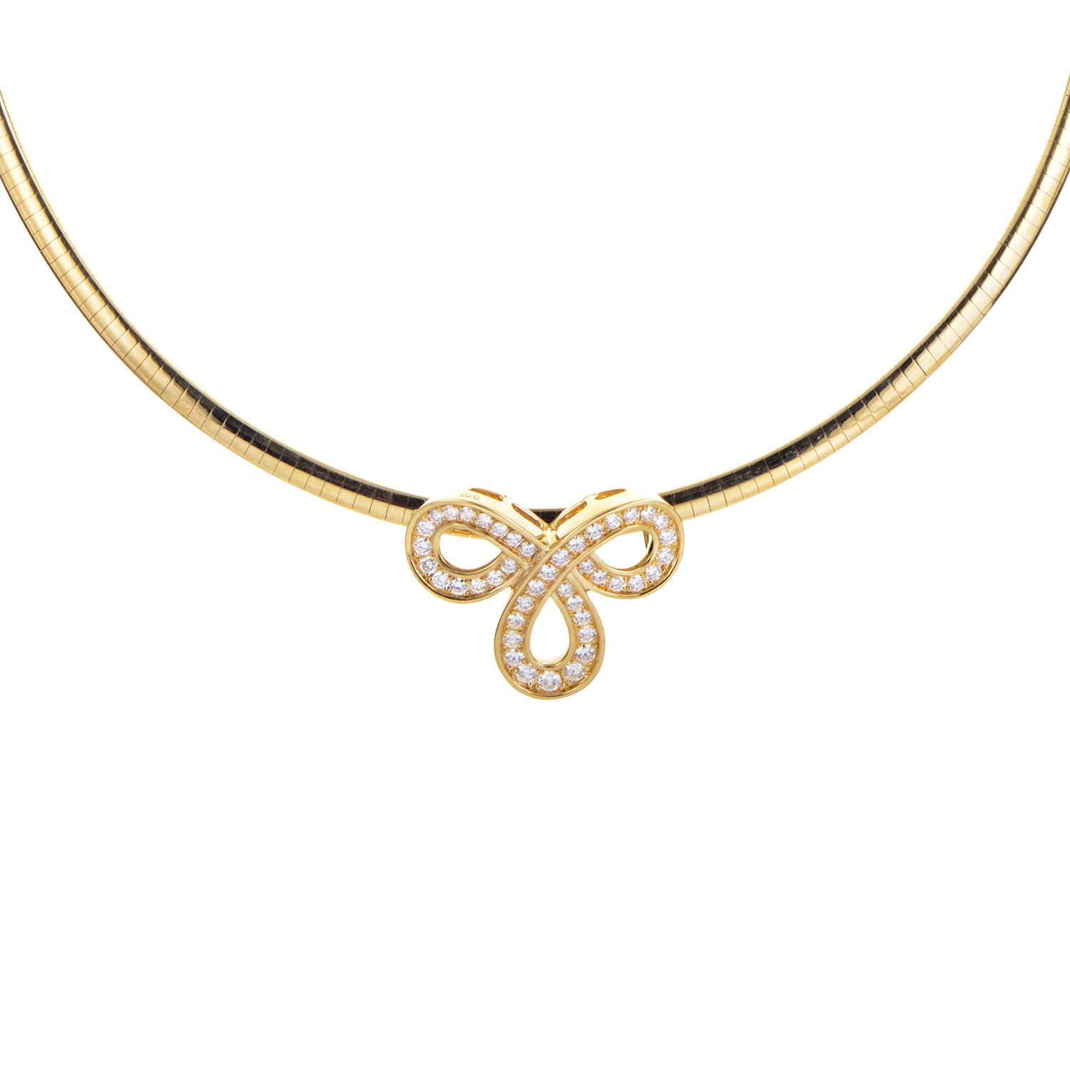 Dior 18K Yellow Gold Diamond Necklace
