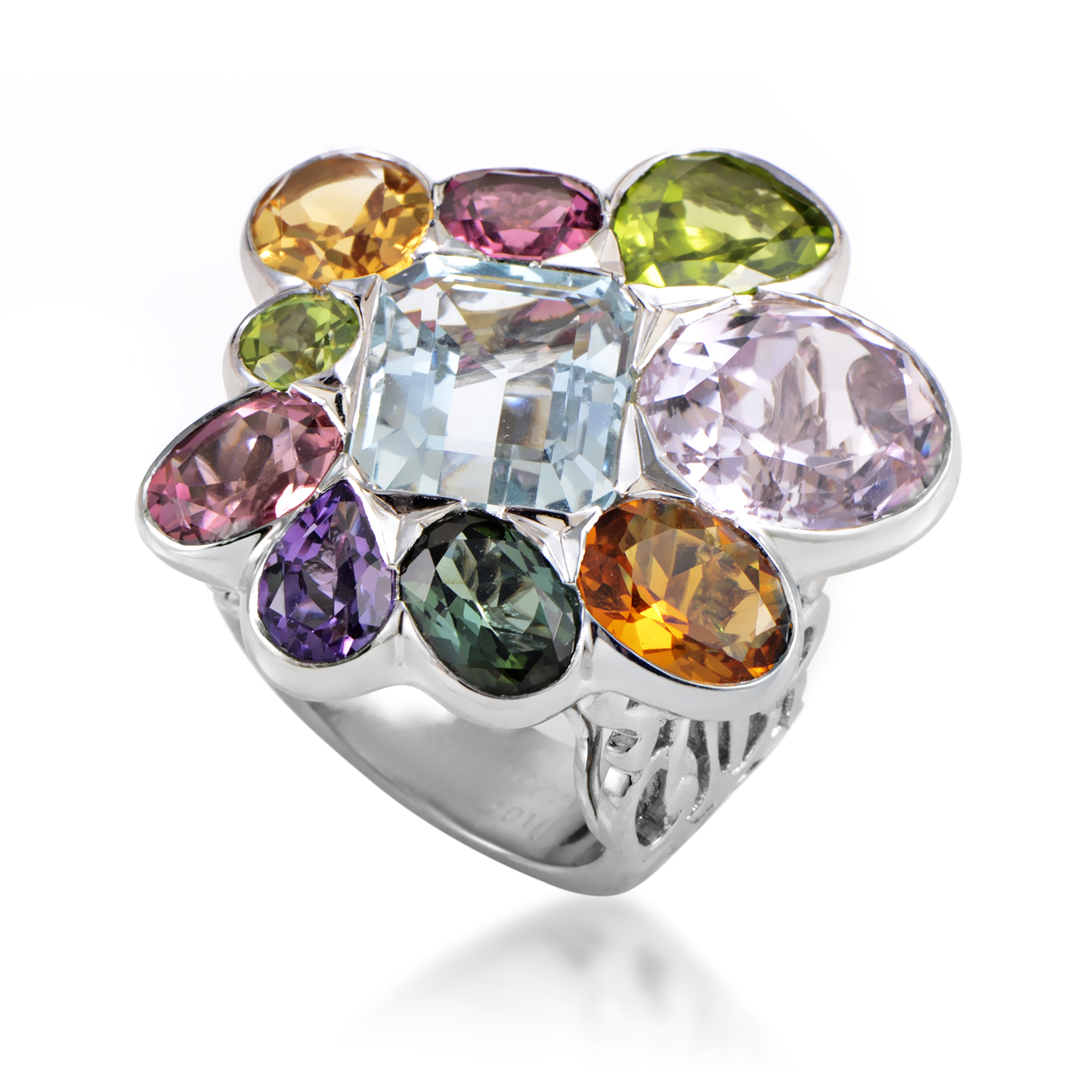 Dior Women's 18K White Gold Multi-Gemstone Cocktail Ring
