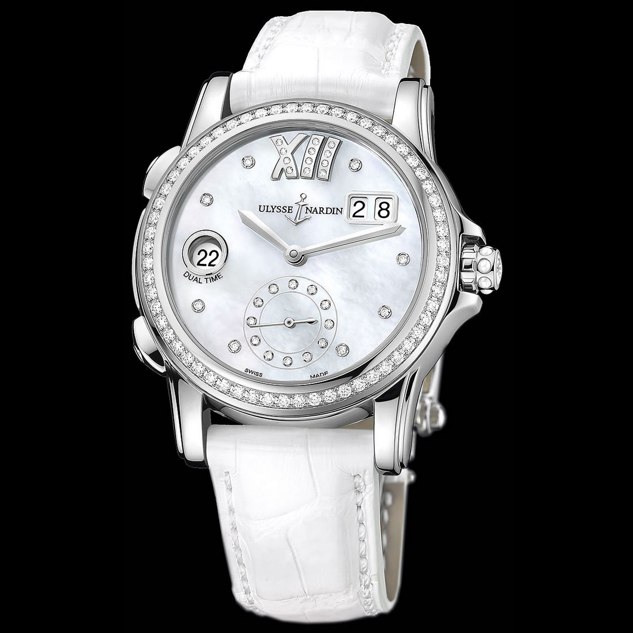 Dual Time Manufacture Ladies 37.5mm 3343-222B/391