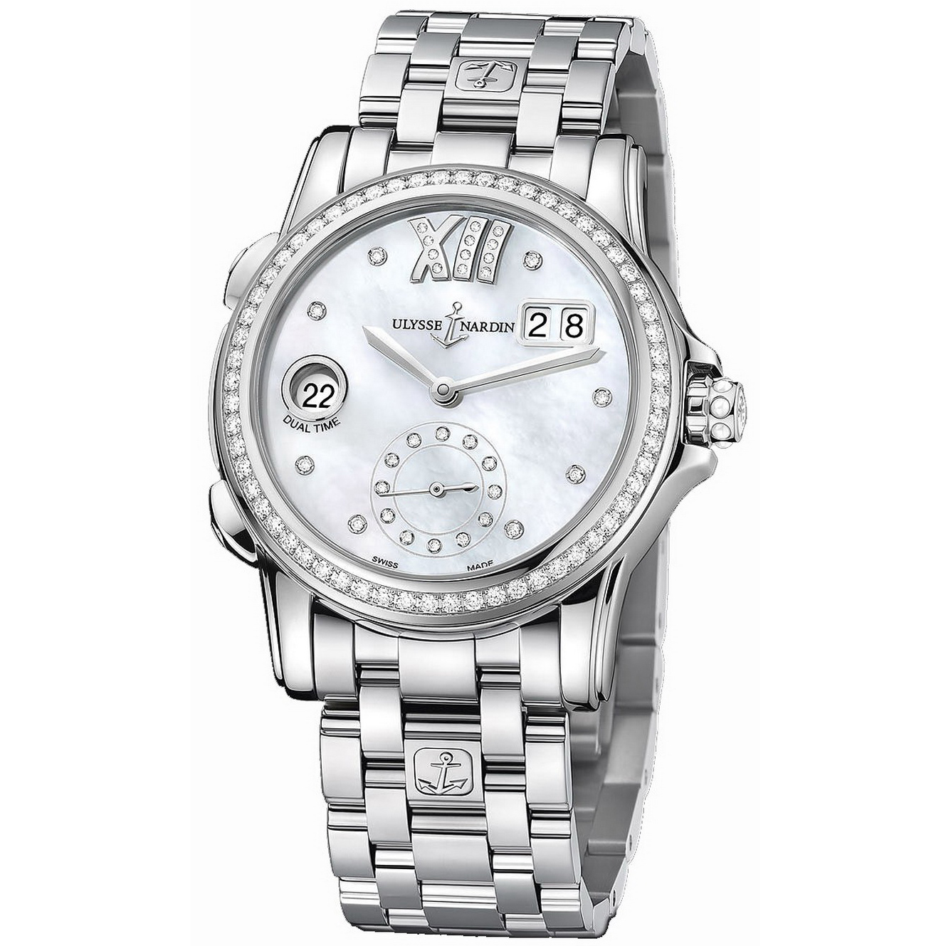 Dual Time Manufacture Ladies 37.5mm 3343-222B-7/391