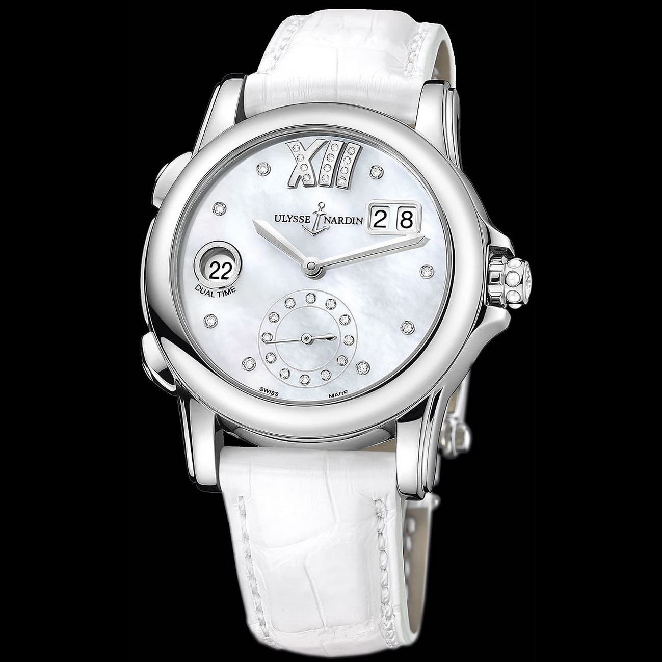 Dual Time Manufacture Ladies 37.5mm 3343-222/391