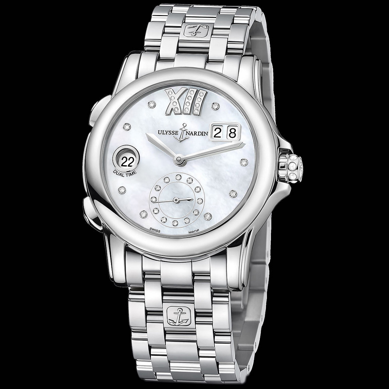 Dual Time Manufacture Ladies 37.5mm 3343-222-7/391