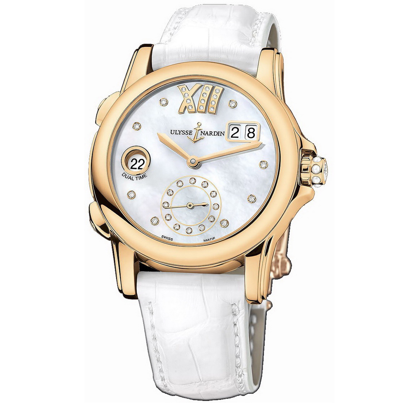 Dual Time Manufacture Ladies 37.5mm 3346-222/391