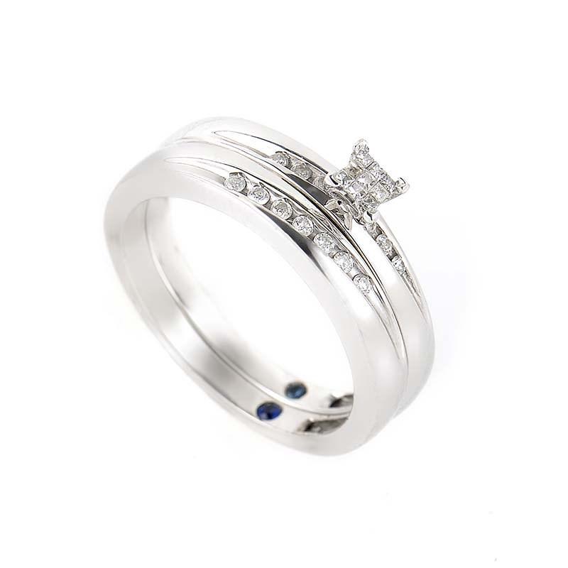 10K White Gold & Diamond Bridal Set