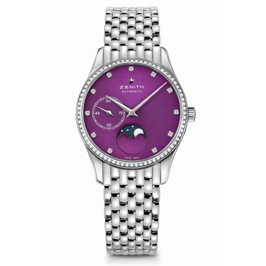 Elite Ultra Thin Lady Moonphase Violet SS 16.2310.692/92.M2310