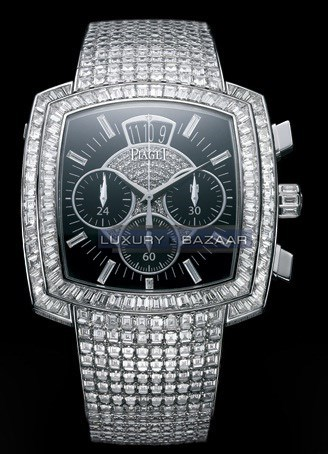 Exceptional Timepieces Cushion Shaped Limelight Diamond Watch GOA33144