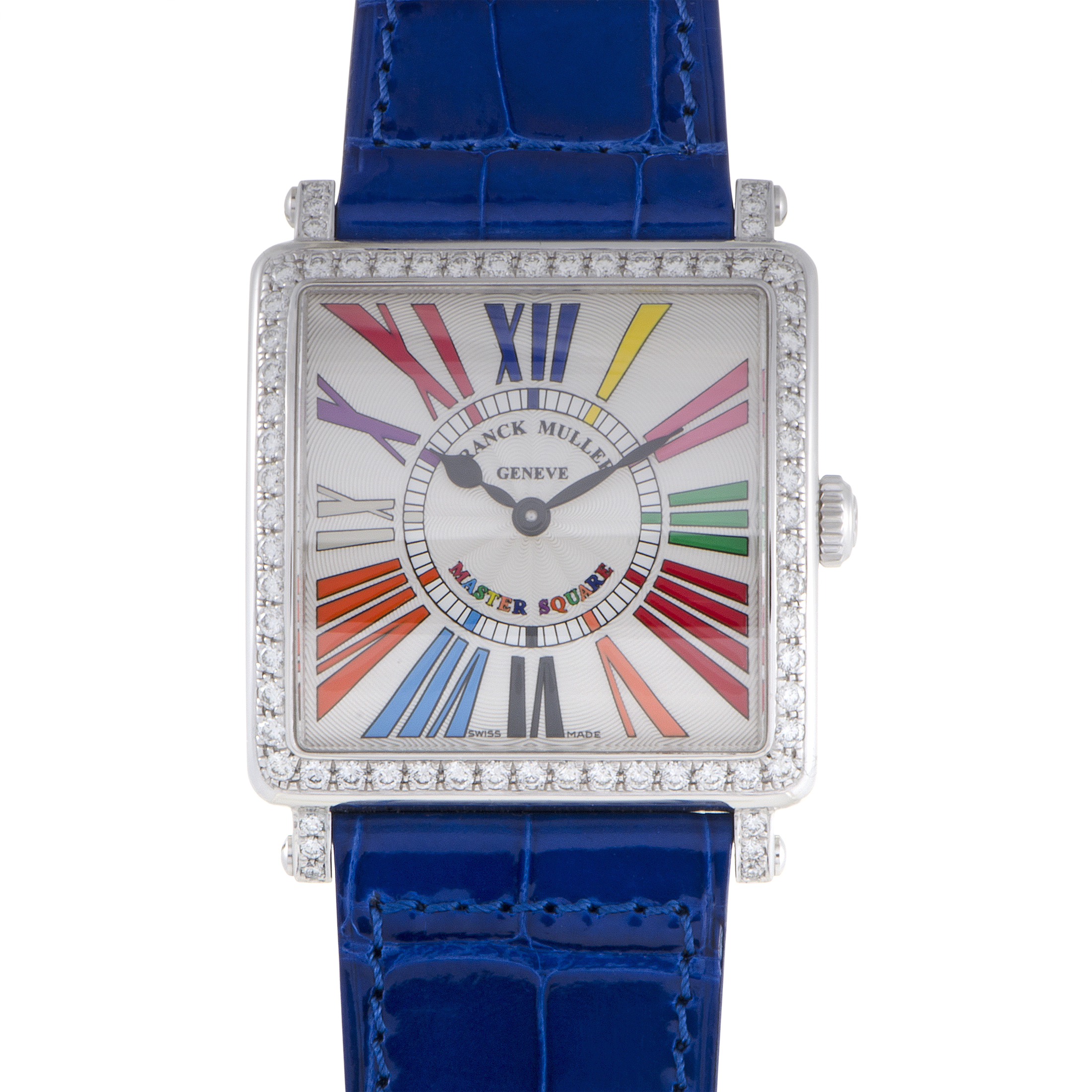 Master Square Womens Quartz Watch 6002MQZD1RCOLDRBLACBLUE