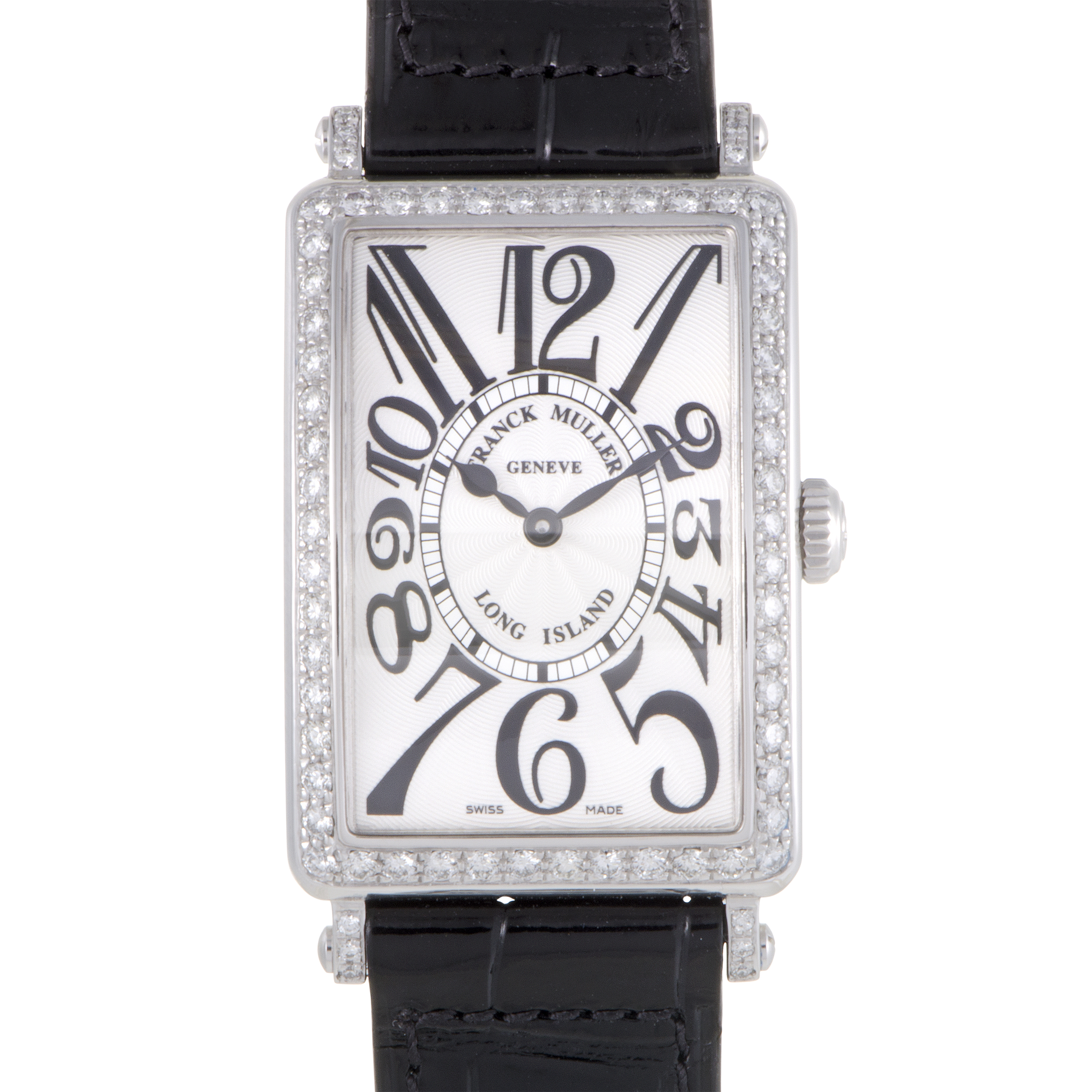 Franck muller long island womens quartz steel diamond watch 952 qz d 1rblvac blk ebay for Franck muller watches
