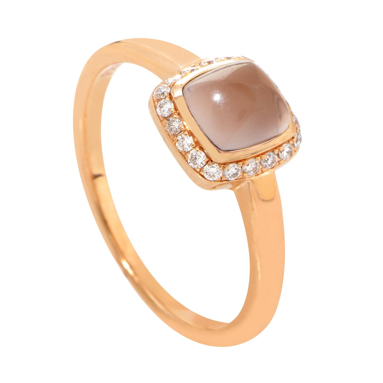 Pain de Sucre Women's Petite 18K Rose Gold Pink Quartz & Diamond