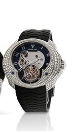 Franc Vila HJ5 Tourbillon Planetaire 5 Days Power Reserve with Diamonds (WG / Black / Strap)