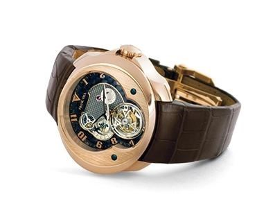 Franc Vila Tourbillon Planetaire 5 Days Power Reserve (RG / Silver / Strap)