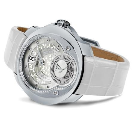Franc Vila Tribute Jumping Hours Automatique White Ivy Edition HJL1 with Diamonds FVt28