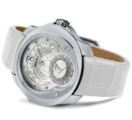Franc Vila Tribute Jumping Hours Automatique White Ivy Edition HJL4 with Diamonds FVt28