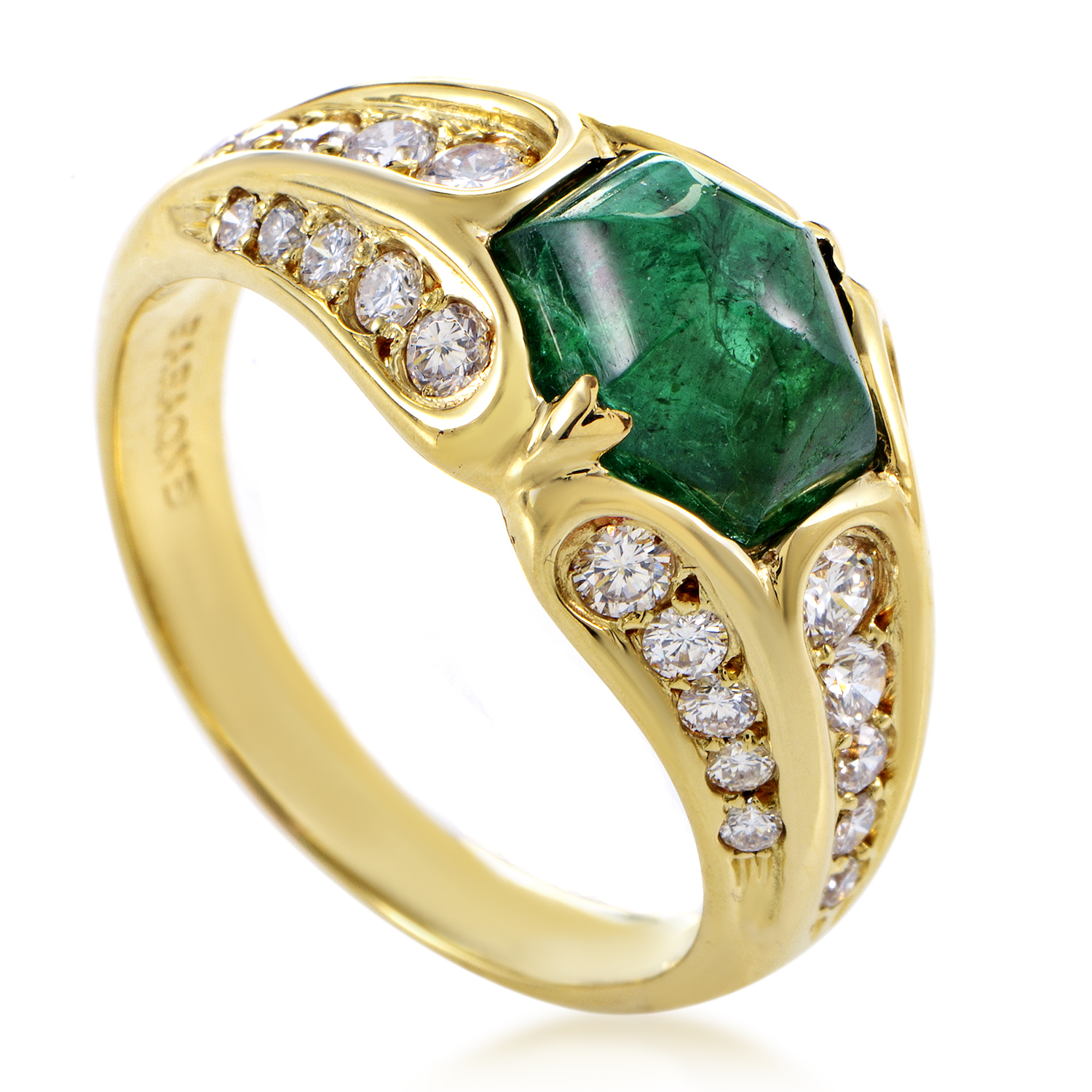 Faraone Mennella Women's 18K Yellow Gold Diamond & Emerald Ring