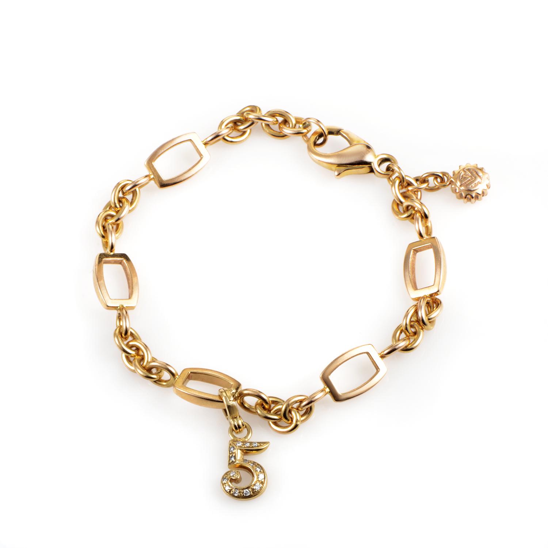 Franck Muller Talisman Women's 18K Yellow Gold & Diamond Charm Bracelet