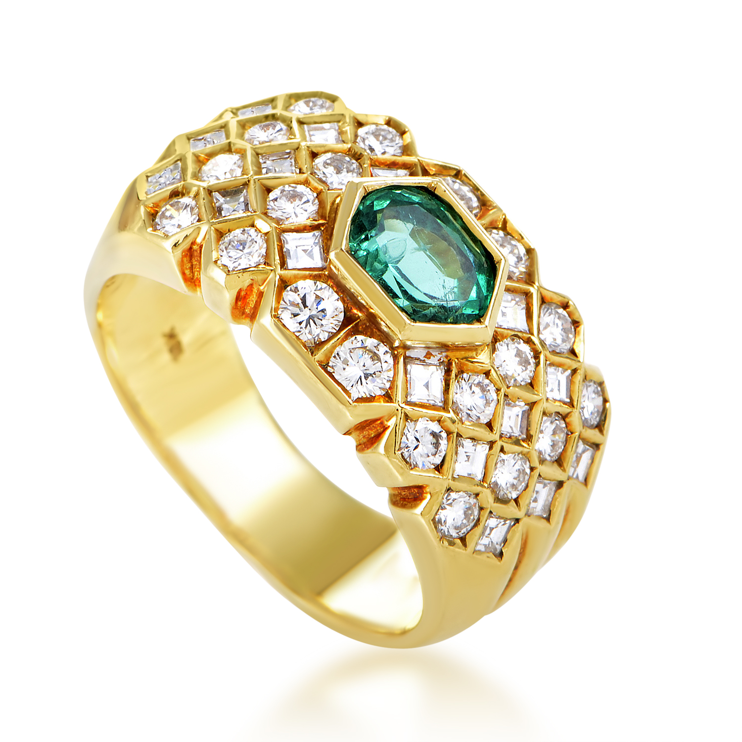 Fred of Paris Women's 18K Yellow Gold Diamond & Emerald Band Ring