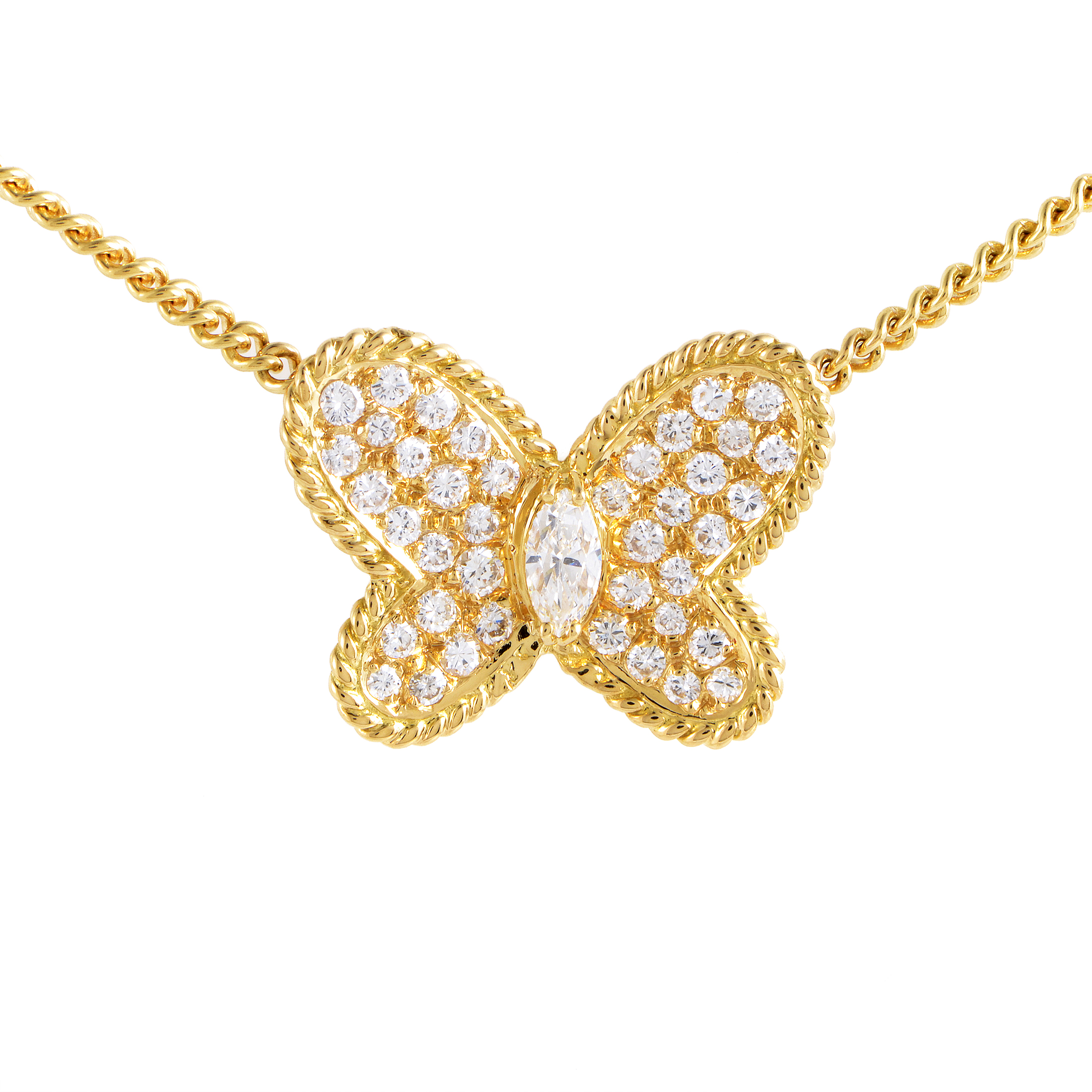 Graff Women's 18K Yellow Gold Diamond Pave Butterfly Pendant Necklace