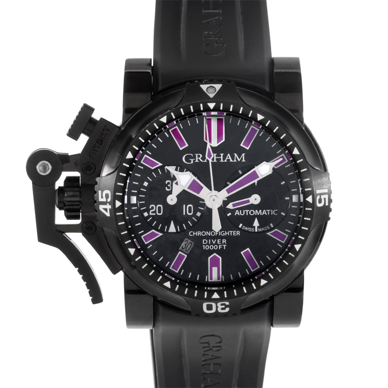 Chronofighter Oversize DIVER DEEP PURPLE 20VEZ.B24A.K10N