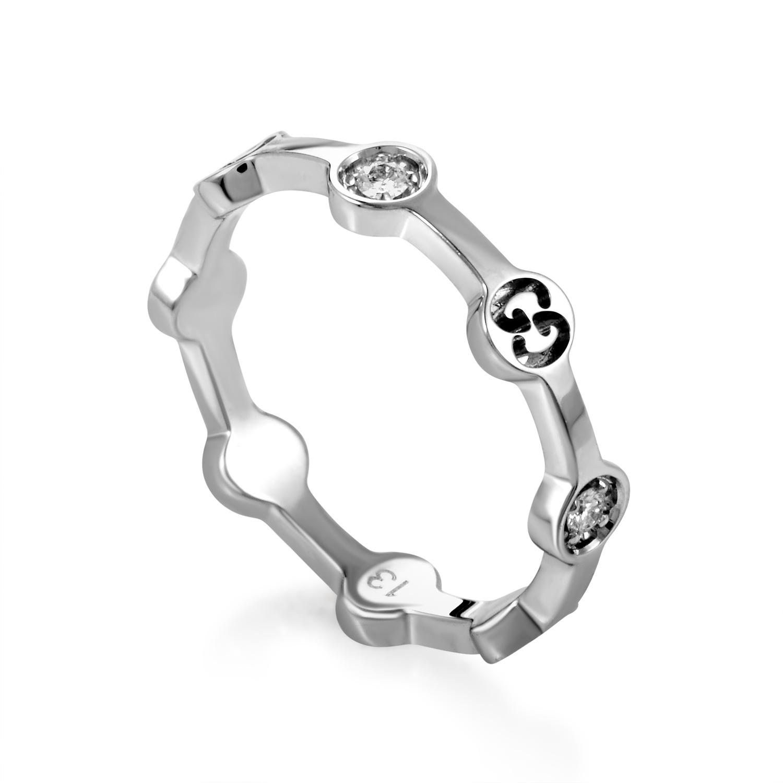 Icon Women's 18K White Gold Diamond Band Ring 08070739