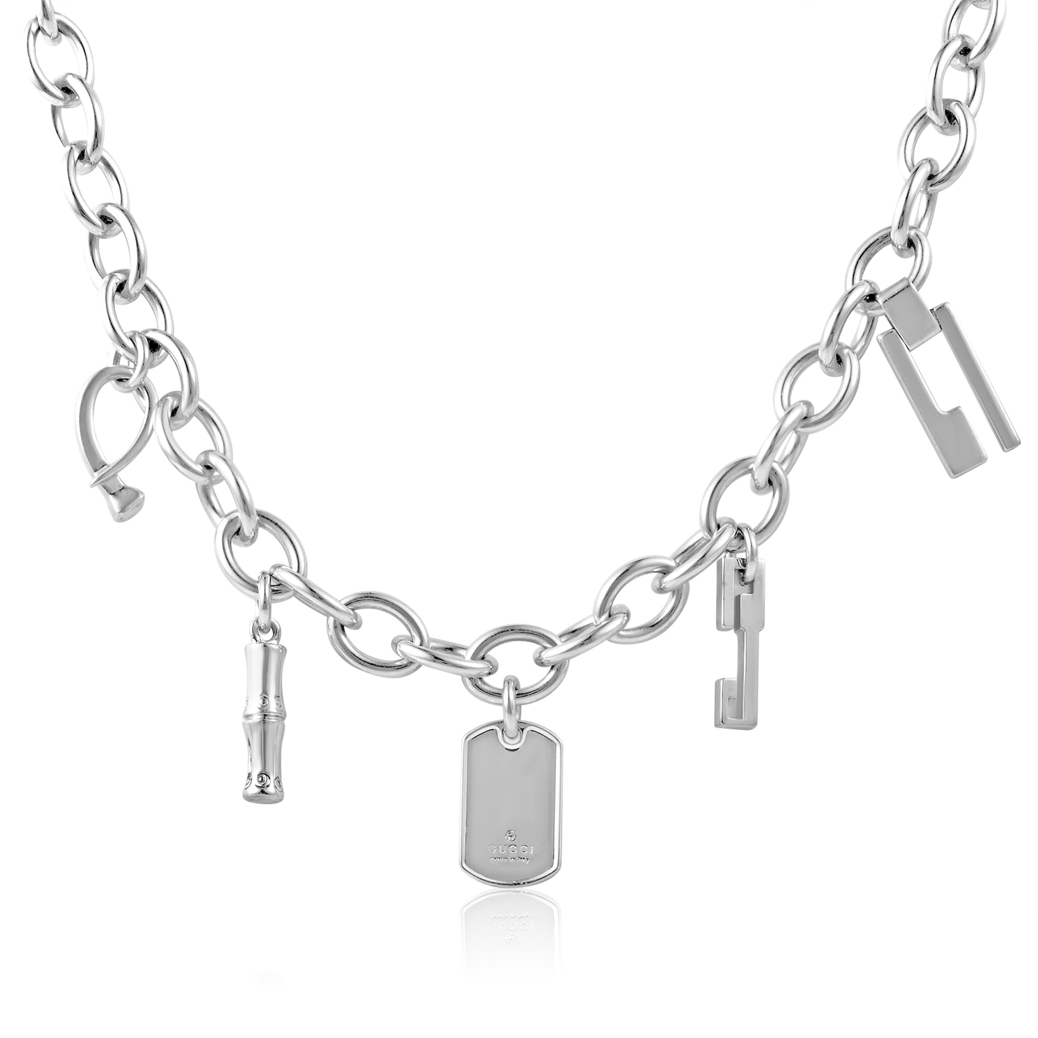 Women's Sterling Silver Mult-Charm Necklace 14125158400