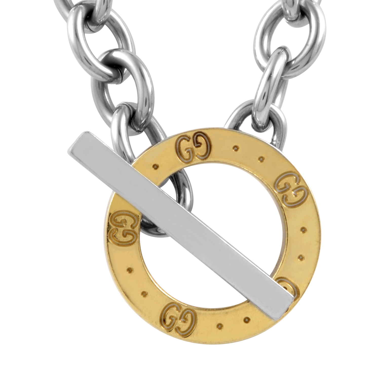 Icon Women's 18K Yellow Gold & Sterling Silver Toggle Necklace