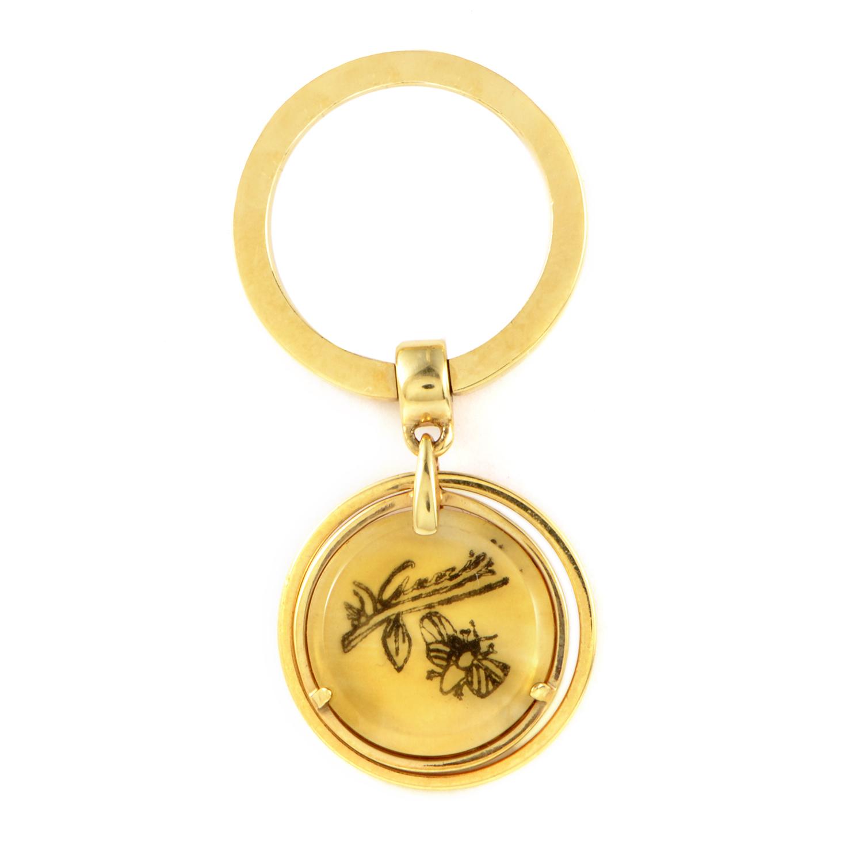 Flora Women's 18K Yellow Gold Charm Ring 181443 J8510 8079